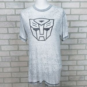 ✨Transformer Burnout Tee SM Heathered Light Gray